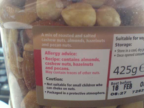 Une information exhaustive sur les substances allergènes.
